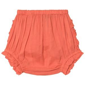 Velveteen Coral Frill Cecily Bloomers 3 months