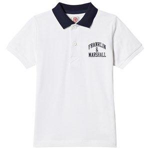 Marshall Franklin & Marshall White Logo Polo Shirt 6-7 years