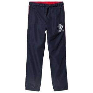 Marshall Franklin & Marshall Navy and Red Side Stripe Popper Track Bottoms 10-11 years