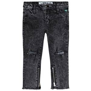 The BRAND Skinny Zip Stone Wash Distressed Grey 80/86 cm