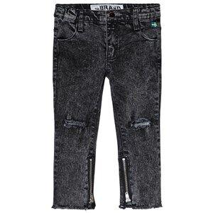 The BRAND Skinny Zip Stone Wash Distressed Grey 104/110 cm