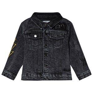 The BRAND Fringe Denim Jacket Stone Wash Distressed Grey 104/110 cm