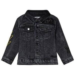 The BRAND Fringe Denim Jacket Stone Wash Distressed Grey 128/134 cm