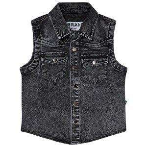 The BRAND Cut Off Shirt Stone Wash Distressed Grey 92/98 cm