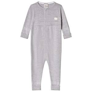Lillelam Baby One-Piece Medium Grey 80 cm