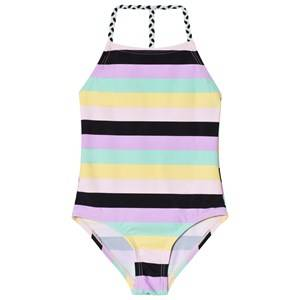 The BRAND Plait Swimsuit Pastel Stripe 92/98 cm