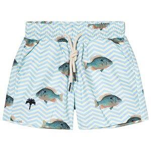 OAS Blue Fish Swim Shorts 4 Years