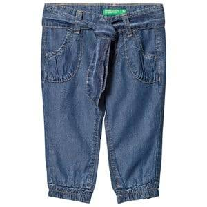 United Colors of Benetton Blue Denim Trousers EL (11-12 years)