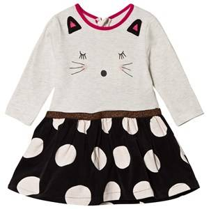 Catimini Grey Cat Face Dress 6 months