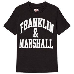Marshall Franklin & Marshall Black CF Logo Tee 7-8 years