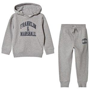 Marshall Franklin & Marshall Grey Marl Hoodie and Sweatpants Set 10-11 years
