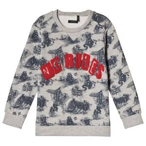IKKS Grey No Rules Print Sweatshirt 12 years