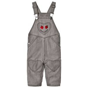 Stella McCartney Kids Grey Olive Overalls with Smiling Lady Bug 9 months