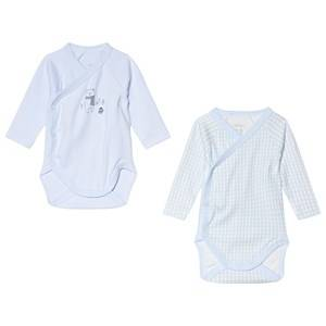Absorba 2-Pack Polar Bear and Gingham Wrap Body Blue 12 months