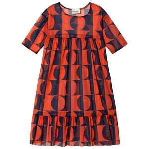 Image of Bobo Choses Dark Light Tulle Flounce Dress Red Clay 4-5 Years