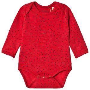 Image of Soft Gallery Bob Baby Body Mini Dots Mars Red 9 months