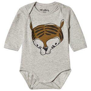 Image of Soft Gallery Bob Baby Body Grr Grey Melange Stripe 12 months