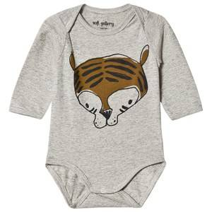 Soft Gallery Bob Baby Body Grr Grey Melange Stripe 12 months