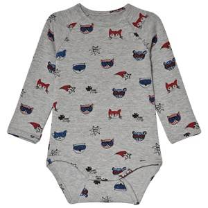 Image of Soft Gallery Watson Baby Body Dreamteam Grey Melange 3 months
