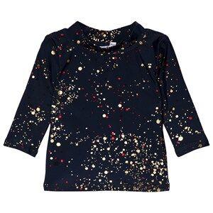 Image of Soft Gallery Baby Astin Sun Shirt Bubble Black Iris 3 months