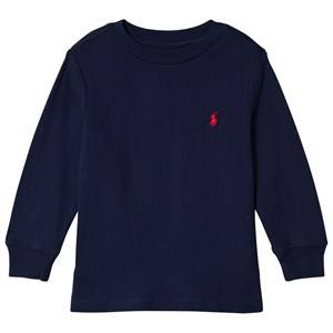 Ralph Lauren Navy Long Sleeve Tee with PP 4 years