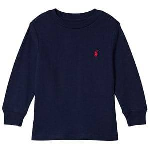 Ralph Lauren Navy Long Sleeve Tee with PP S (8 years)