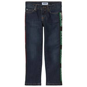 Moschino Kid-Teen Blue Logo Jeans 6 years