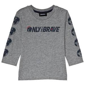 Diesel Grey Only the Brave Branded Long Sleeve Tee 18 months