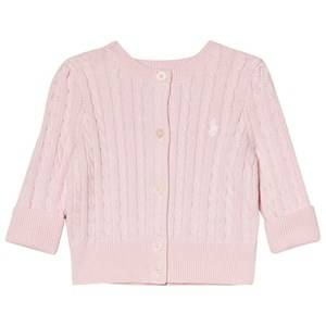 Image of Ralph Lauren Cable Knit Cardigan Pink 6 months