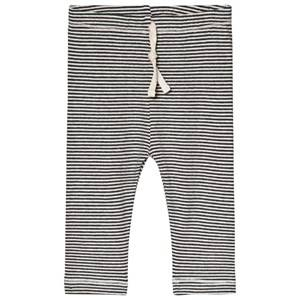 Image of Gray Label Baby Leggings Nearly Black/Cream Stripe 6-9 Months