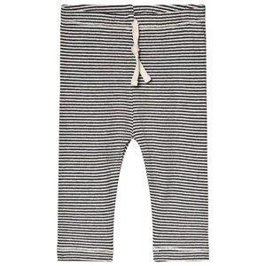 Image of Gray Label Baby Leggings Nearly Black/Cream Stripe 1-3 Months