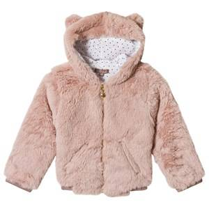 Emile et Ida Furry Jacket with Ears Rose 2 Years