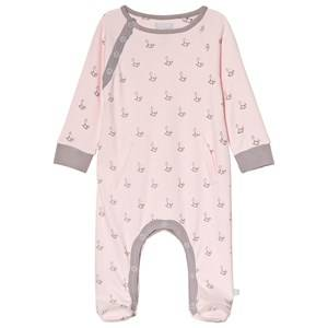 Image of The Little Tailor Pink Rocking Horse Fotted Baby Body 9-12 months