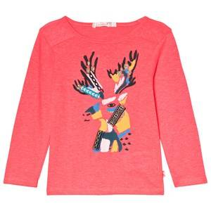 Billieblush Pink Glitter Reindeer Print and Embroidered Tee 3 years