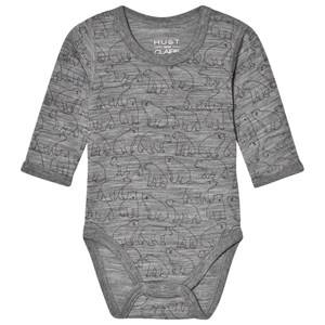Hust&Claire; Bo Baby Body Grey 62 cm (2-4 Months)