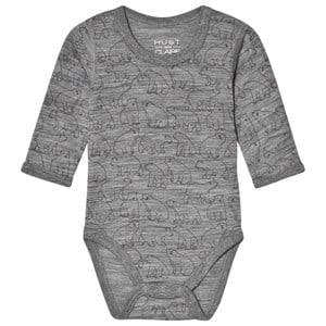 Hust&Claire; Bo Baby Body Grey 74 cm (6-9 Months)