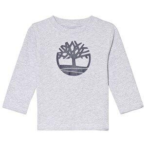 Timberland Grey Tree Logo Long Sleeve Tee 4 years