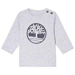 Timberland Grey Tree Logo Long Baby Sleeve Tee 18 months