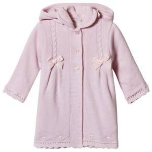 Dr Kid Pink Knitted Longline Hooded Cardigan 24 months
