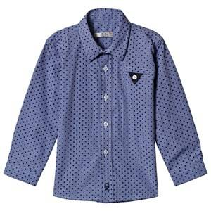 Image of Dr Kid Blue Polka Dot Shirt 6 years