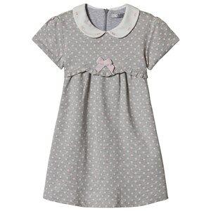 Image of Dr Kid Grey Polka Dot Collared Dress 6 months