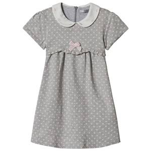 Image of Dr Kid Grey Polka Dot Collared Dress 6 months