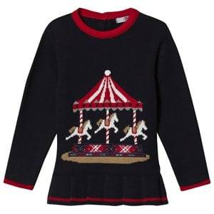 Dr Kid Navy Knitted Merry Go Round Top 6 months