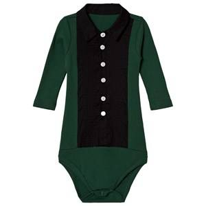 Image of The Tiny Universe The Tiny Baby Body Tuxedo Deep Green 6-12 months (80)