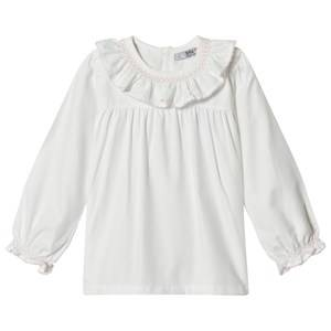 Image of Dr Kid White Embroidered Collar & Cuff Top 9 months
