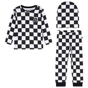 The BRAND 3-Piece Baby Set Black Squares 80/86 cm