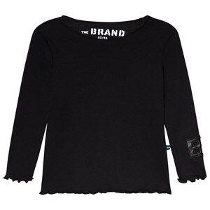 The BRAND Rib Long Sleeve Tee Black 104/110 cm
