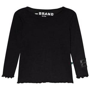 The BRAND Rib Long Sleeve Tee Black 104/110 cm