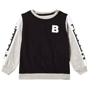 The BRAND Cross Terry Sweater Black/Grey Melange 92/98 cm