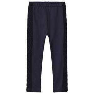 Image of Dr Kid Navy Knitted Side Leggings 6 months